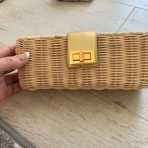 J crew straw clutch.  New
